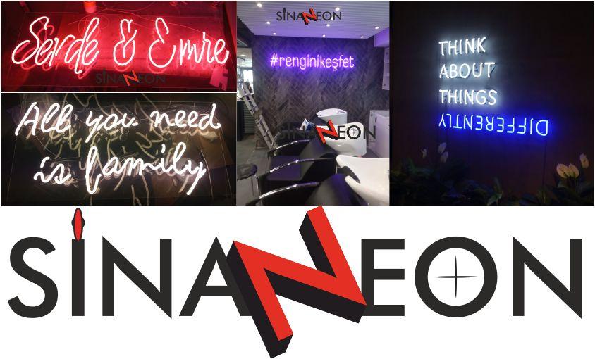 Toplu Neon Yazı Görselleri