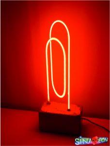 cam neon dekor gece aydınlatması