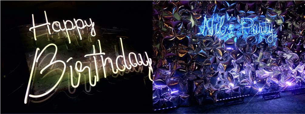 happy birtheday neon