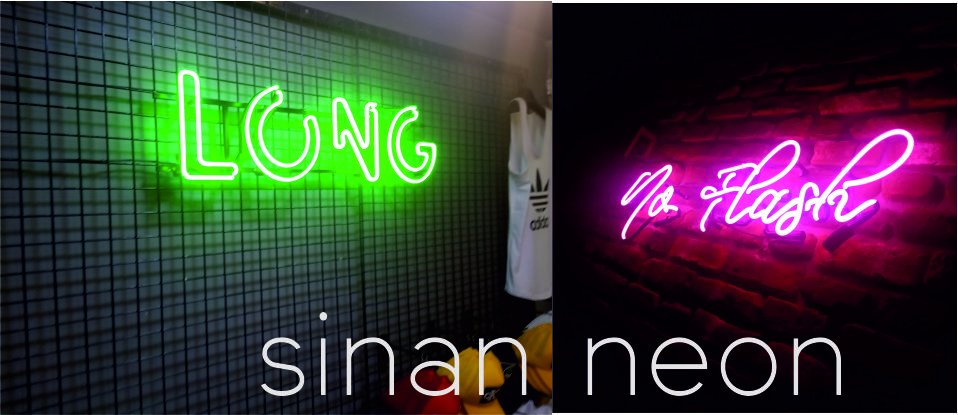 tel örğü demir üzeri neon yaz