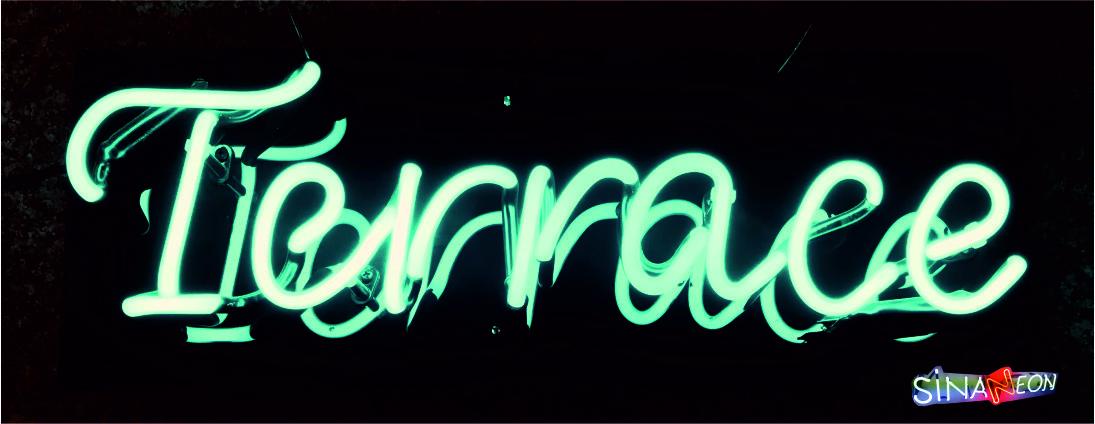 Terrace Neon Yazı