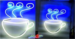 cafe fincan neon görsel şekli