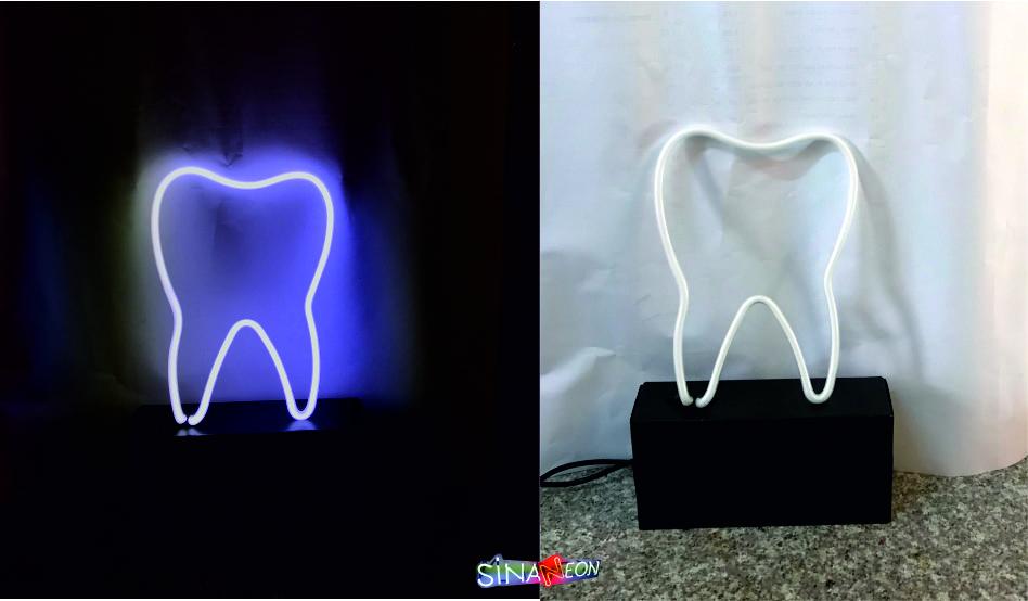 cam neon diş şekli