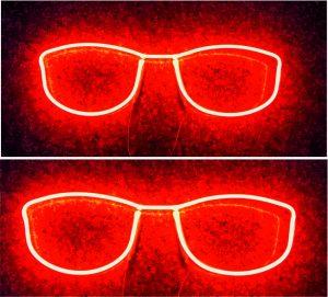 gözlük led neon görseli