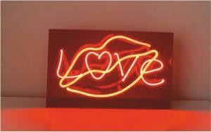 love dudak neon sign