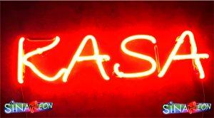 kasa neon sign