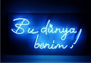 led neon yazı bu dünya benim, bu dünya benim neon led yazı