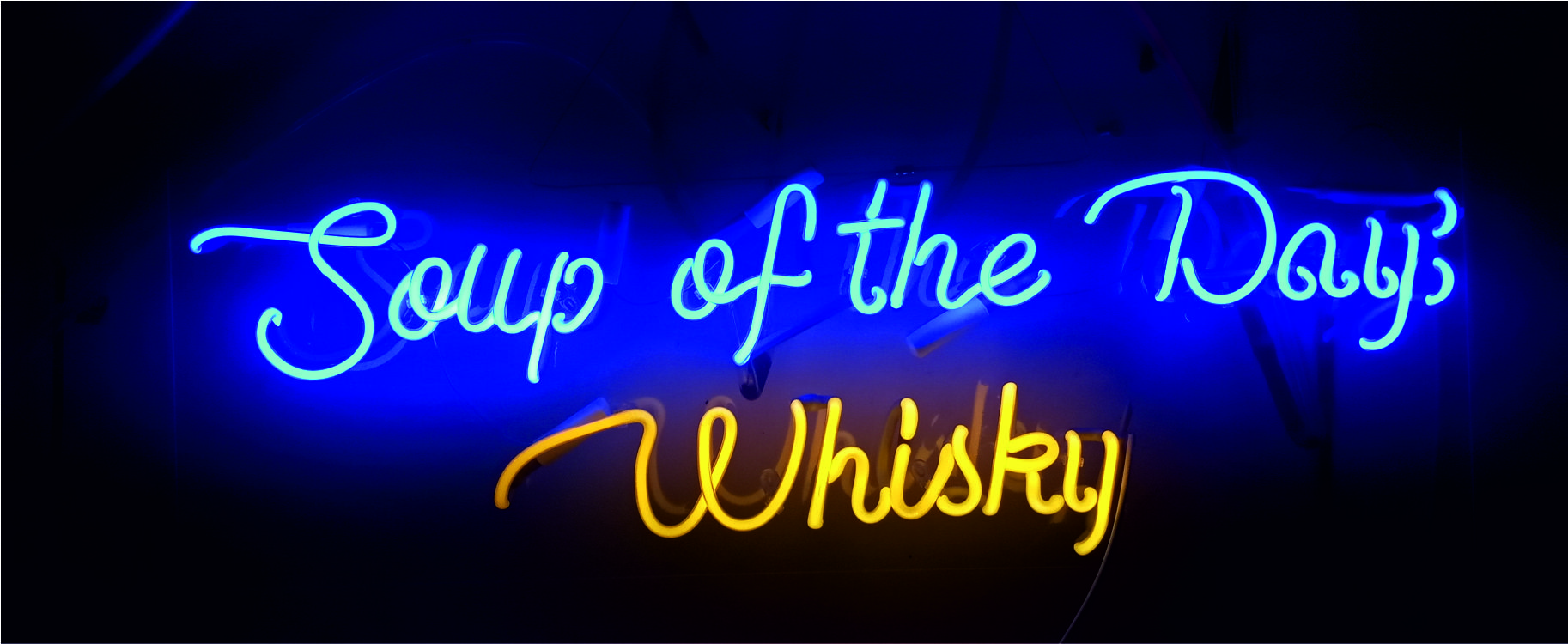soup of the day whisky neon sign
