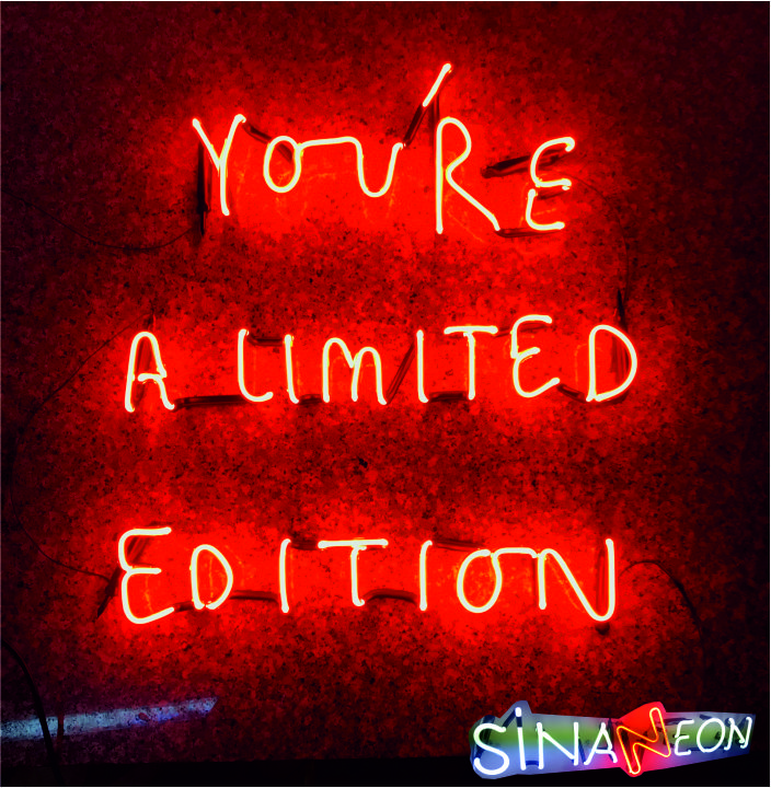 you're a limited edition neon yazı